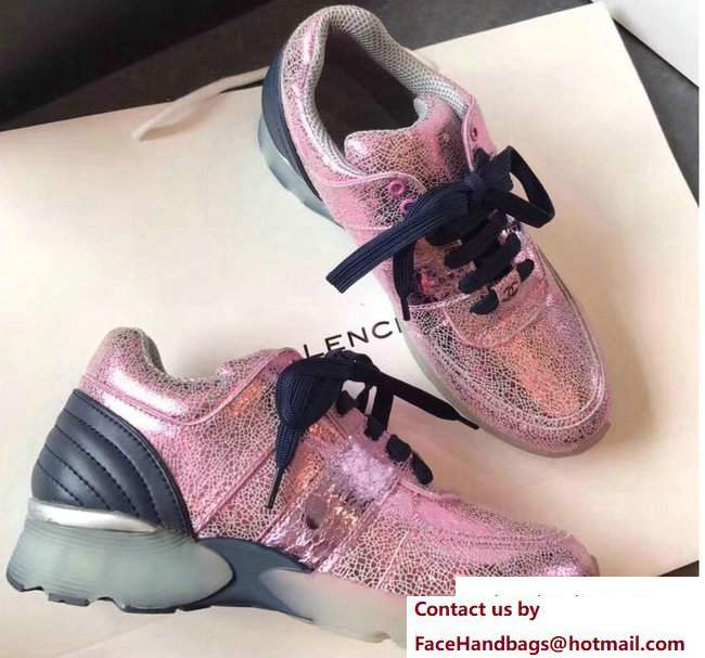 Chanel Sneakers Glittered Pink