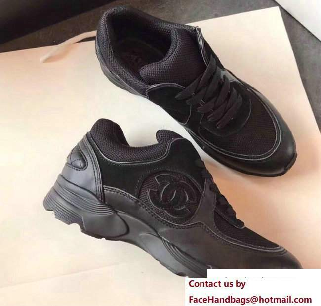 Chanel Sneakers Suede Black
